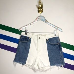 NEW LEVIS Colorblock button fly Wedgie shorts